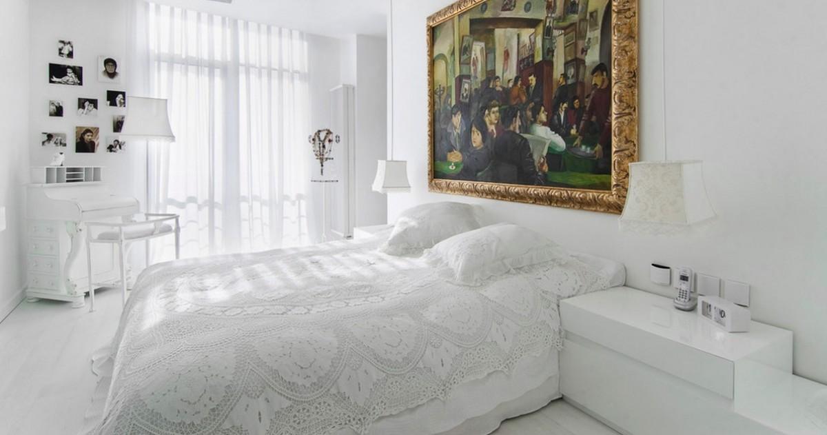 Как и чем декорировать белую спальню: советы и предметы
