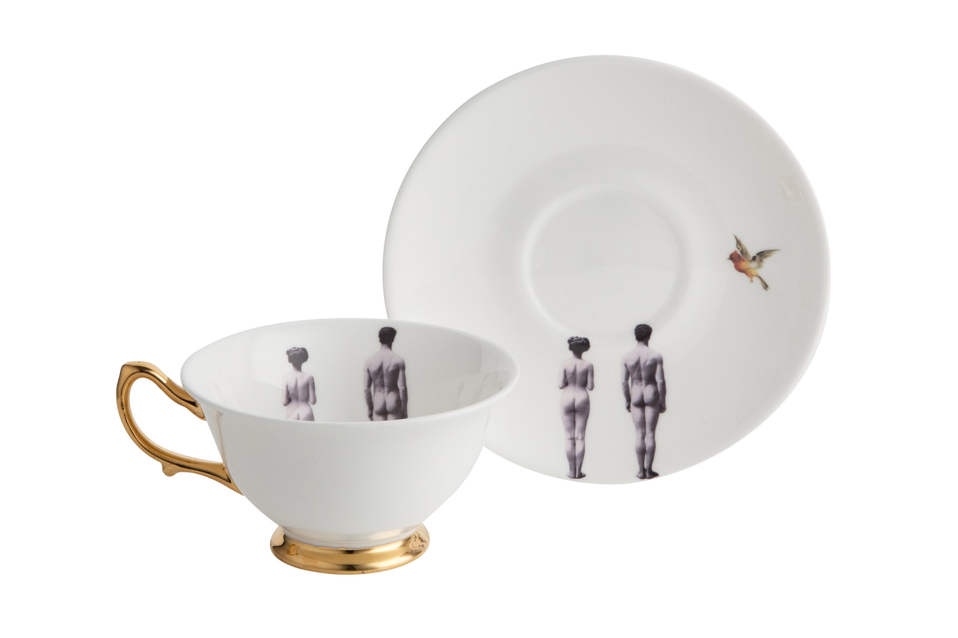 Чашка с блюдцем Melody Rose от Roomble