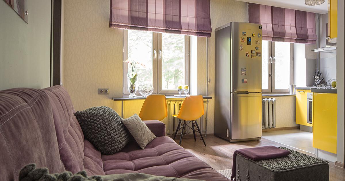 Как совместить кухню с гостиной в маленькой квартире: 10 примеров и советы профи