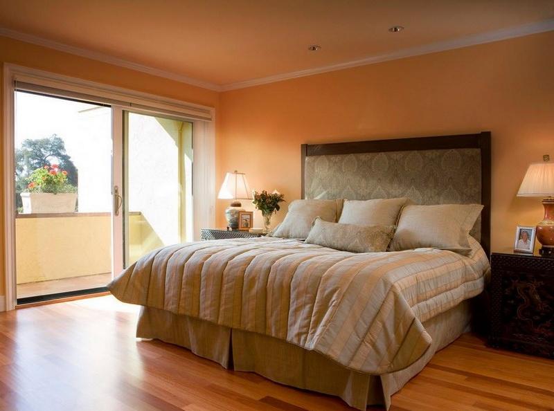 Спальня в  цветах:   Бежевый, Коричневый, Темно-зеленый, Черный.  Спальня в  стиле:   Минимализм.