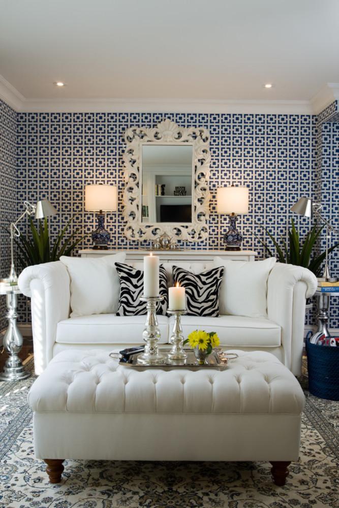 Гостиная в  цветах:   Бежевый, Белый, Светло-серый, Серый.  Гостиная в  стиле:   Эклектика.