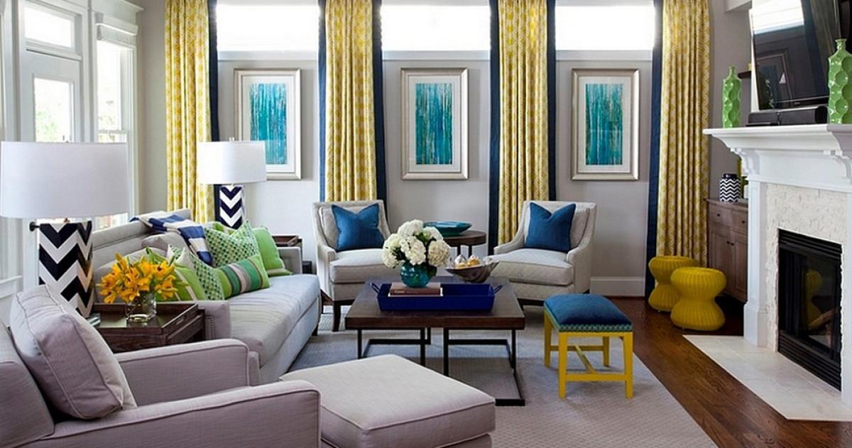 Гостиная в  цветах:   Бежевый, Белый, Светло-серый, Серый.  Гостиная в  стиле:   Фьюжн.