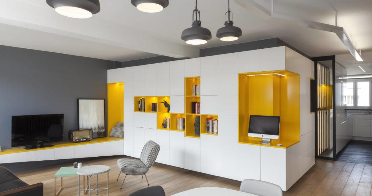 Дом для настоящих мужчин: 70-метровая квартира в Париже
