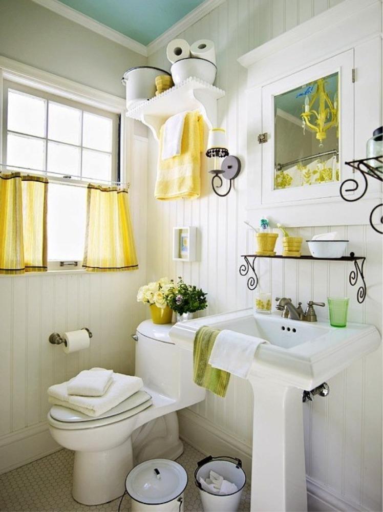 Ванная в  цветах:   Бежевый, Белый, Светло-серый, Серый.  Ванная в  стиле:   Кантри.