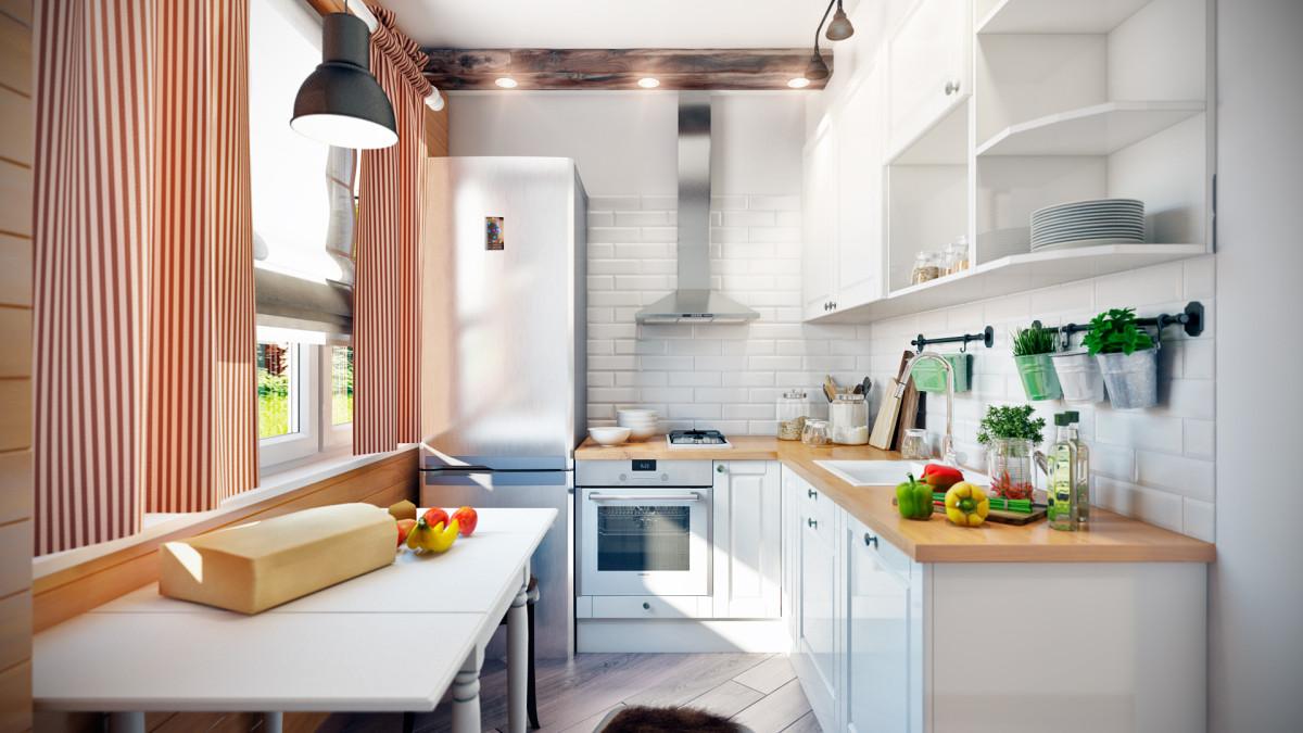 Кухня/столовая в  цветах:   Бежевый, Белый, Светло-серый, Серый.  Кухня/столовая в  стиле:   Скандинавский.