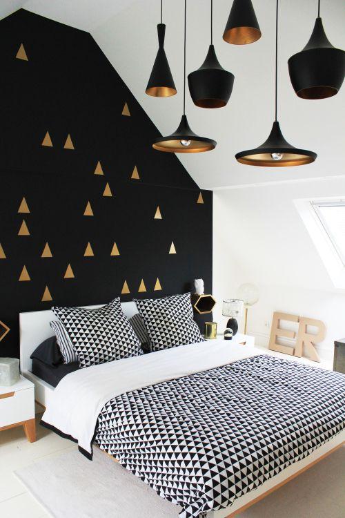 Спальня в  цветах:   Белый, Коричневый, Светло-серый, Черный.  Спальня в  стиле:   Скандинавский.