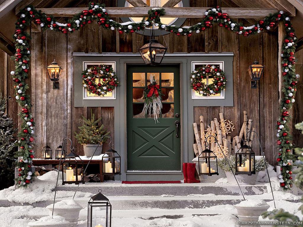 Участок зимой: 19 идей новогоднего декора