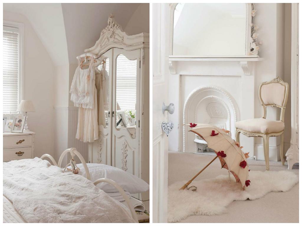 Спальня в цветах: белый, бежевый. Спальня в .