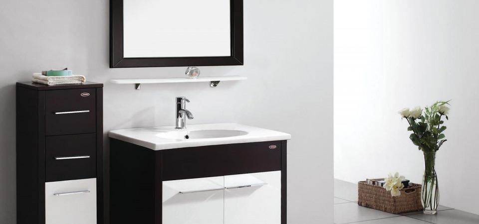 Ванная комната в черно-белой гамме