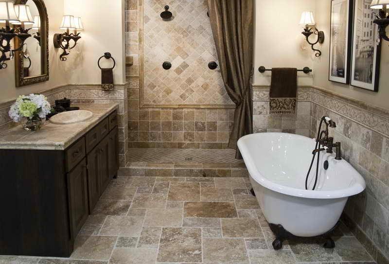 Декор в цветах: черный, серый, светло-серый. Декор в стиле средиземноморский стиль.