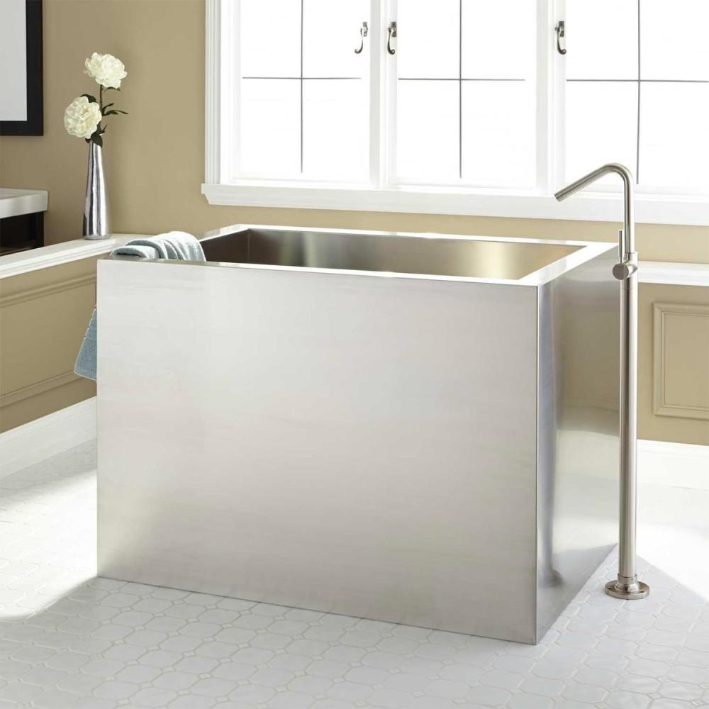 Ванная в цветах: серый, светло-серый, белый, бежевый. Ванная в стилях: минимализм, экологический стиль.