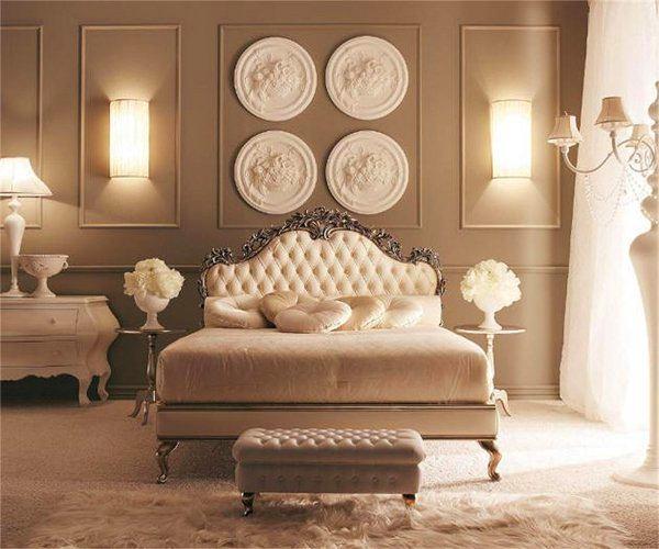 Мебель и предметы интерьера в цветах: желтый, серый, белый, коричневый, бежевый. Мебель и предметы интерьера в стиле классика.