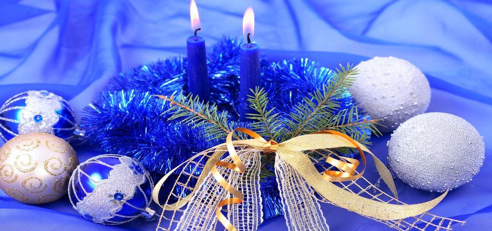 Синий тренд для Нового года: 40 идей декора