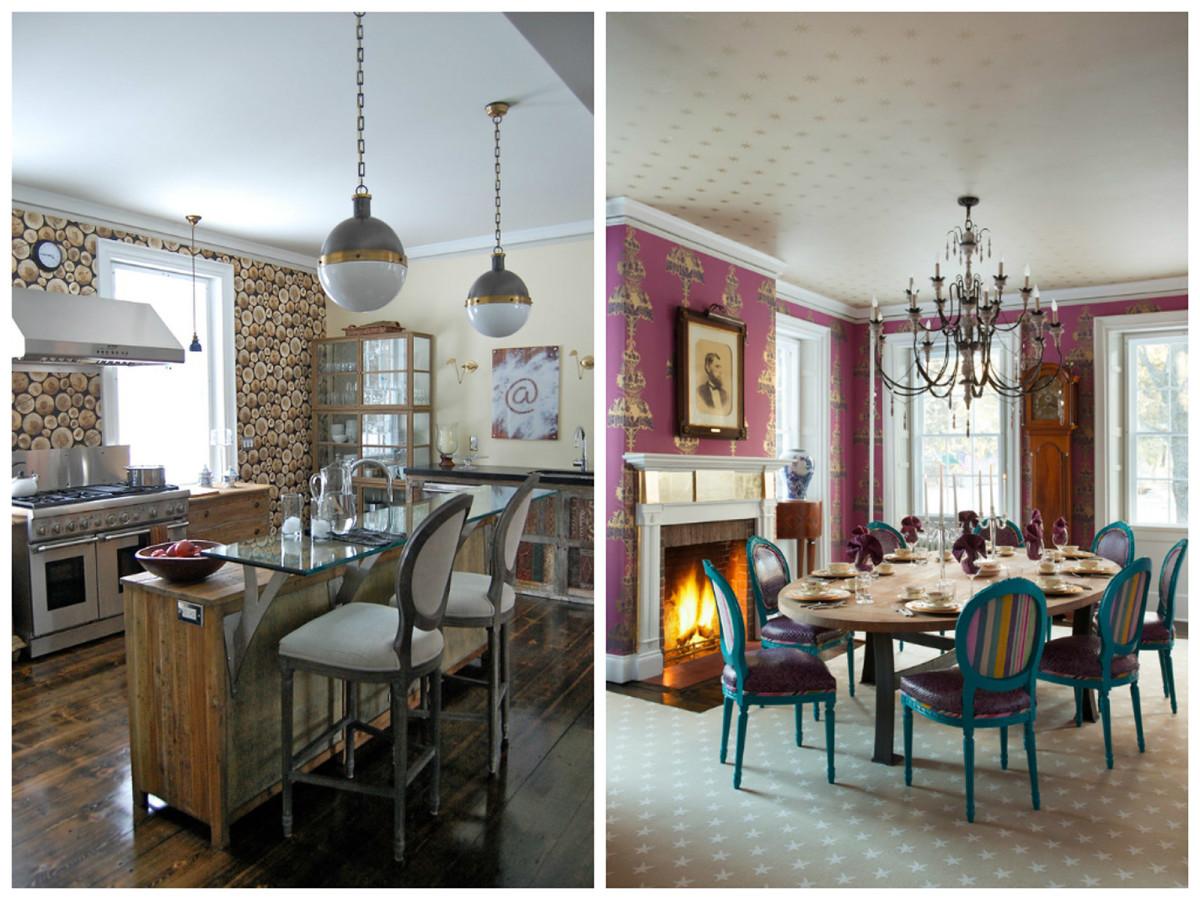 Кухня в цветах: голубой, розовый, коричневый, бежевый. Кухня в стиле арт-деко.