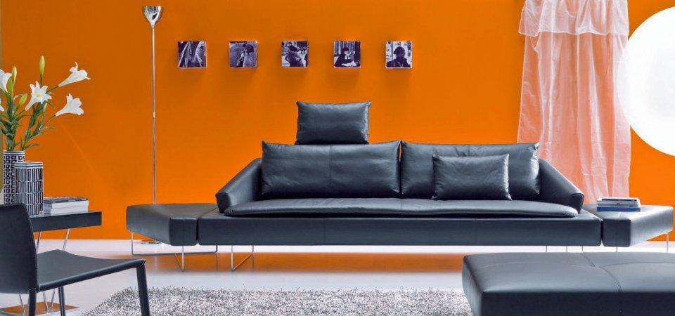Чёрный кожаный диван: классика или тренд?