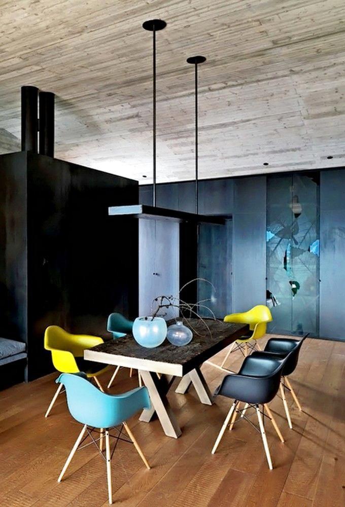 Мебель и предметы интерьера в цветах: желтый, голубой, бирюзовый, черный, серый. Мебель и предметы интерьера в стиле минимализм.