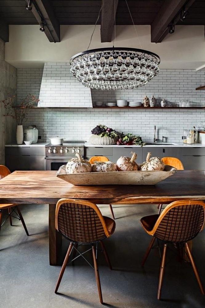 Кухня в цветах: желтый, серый, светло-серый, белый, коричневый. Кухня в .