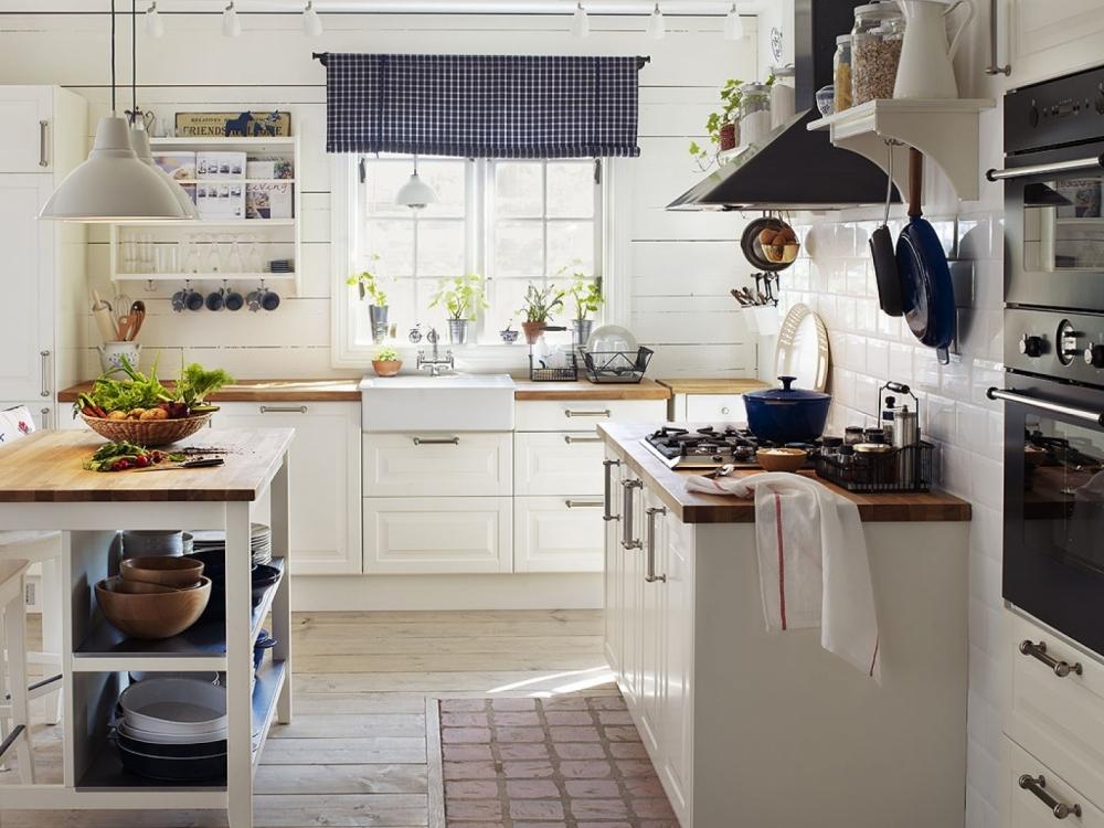 Кухня в цветах: черный, белый, бежевый. Кухня в стилях: скандинавский стиль.