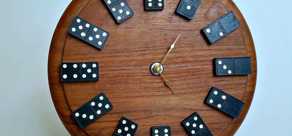 Время поиграть! Самодельные часы-домино: мастер-класс