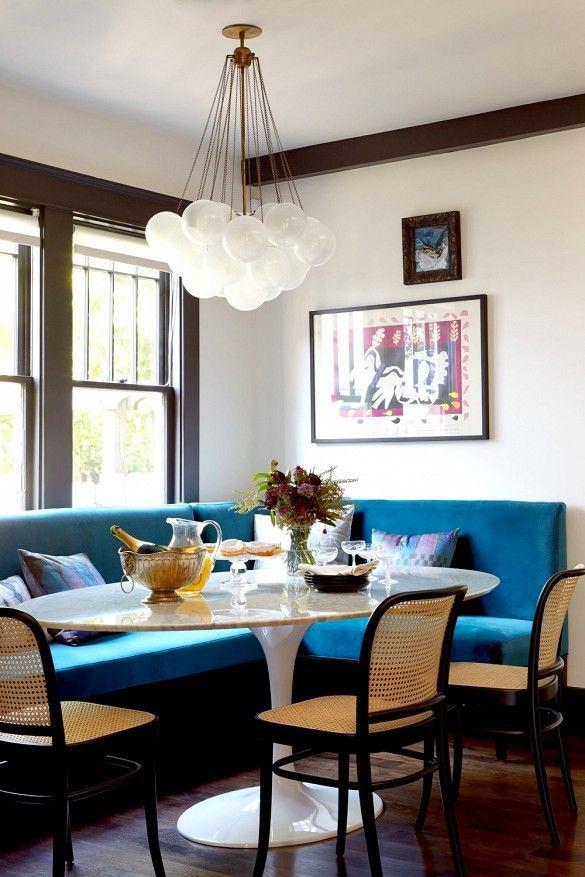 Кухня в цветах: бирюзовый, серый, светло-серый, сине-зеленый. Кухня в стиле эклектика.