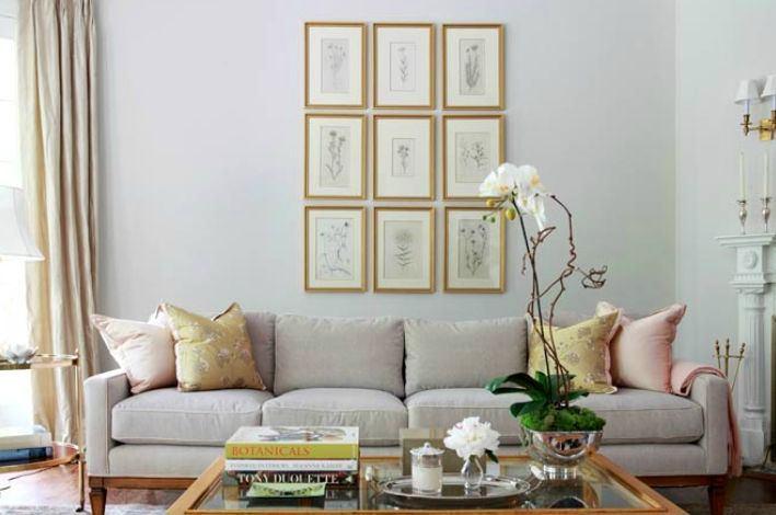 Гостиная, холл в цветах: серый, светло-серый, бежевый. Гостиная, холл в стиле французские стили.