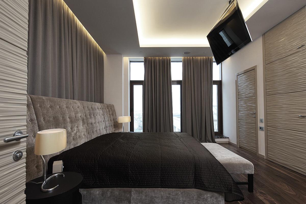 Мебель и предметы интерьера в цветах: черный, серый, светло-серый, белый. Мебель и предметы интерьера в стиле минимализм.