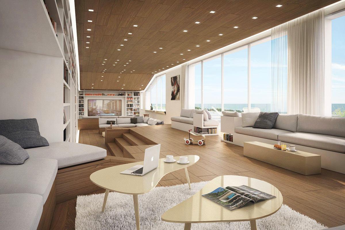 Гостиная, холл в цветах: серый, белый, коричневый, бежевый. Гостиная, холл в стилях: минимализм.
