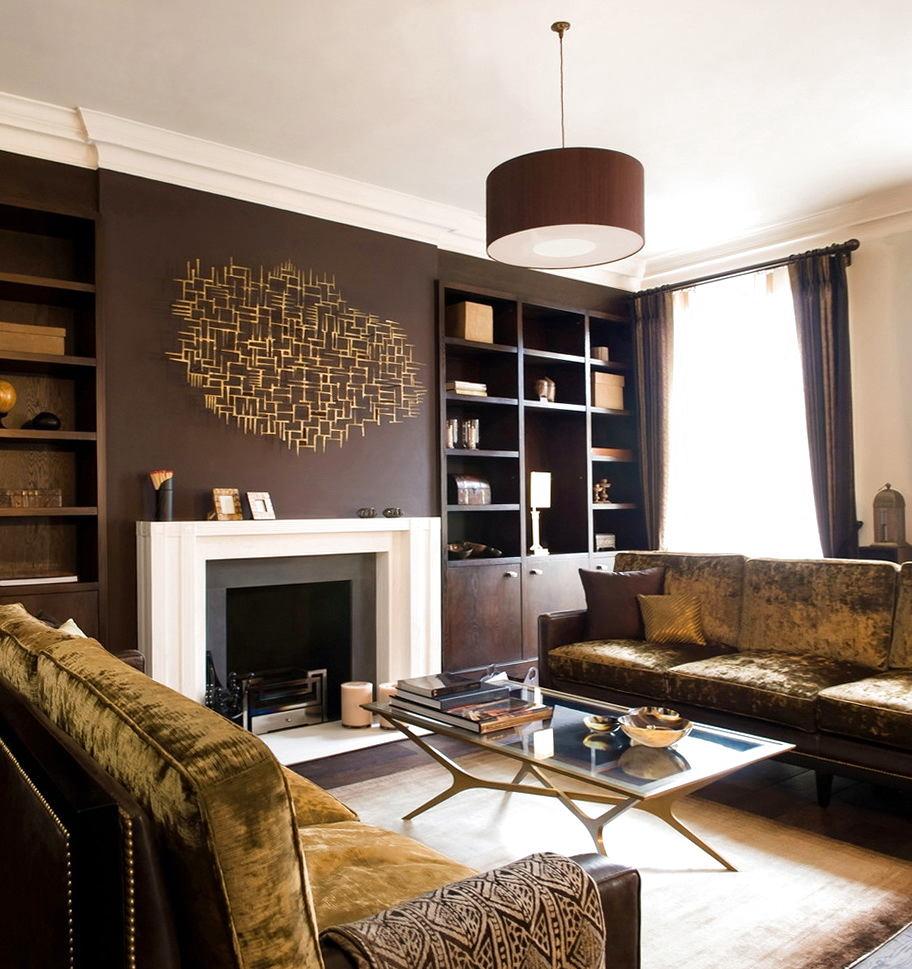Гостиная, холл в цветах: серый, белый, темно-коричневый, коричневый. Гостиная, холл в стилях: классика, английские стили.
