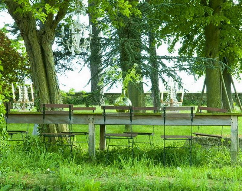 Ландшафт в цветах: темно-зеленый, салатовый. Ландшафт в стиле французские стили.