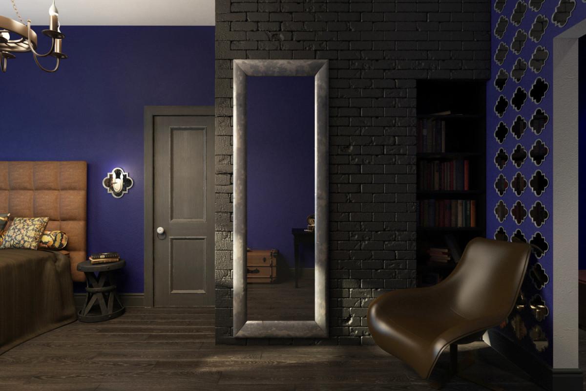 Мебель и предметы интерьера в цветах: фиолетовый, черный, серый, коричневый. Мебель и предметы интерьера в стиле лофт.