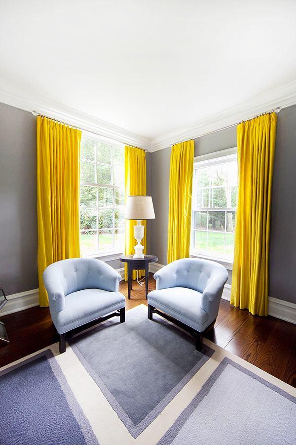 Гостиная, холл в цветах: желтый, серый, светло-серый, белый, бежевый. Гостиная, холл в стилях: классика, минимализм.