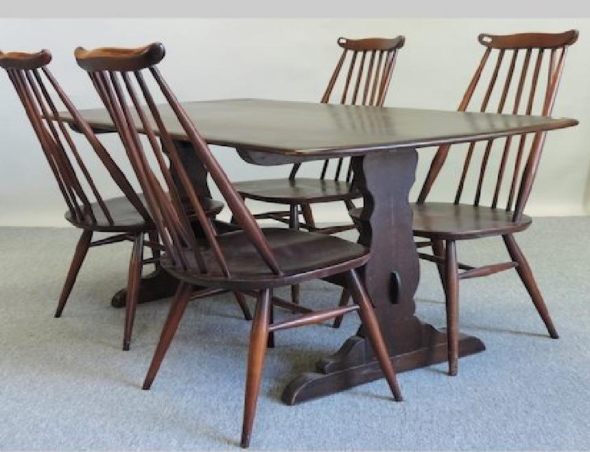 Мебель и предметы интерьера в цветах: голубой, черный, серый. Мебель и предметы интерьера в стилях: английские стили.