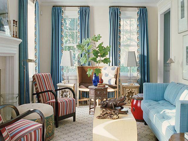 Гостиная, холл в цветах: голубой, светло-серый, белый, бежевый. Гостиная, холл в стилях: американский стиль, ближневосточные стили, этника.