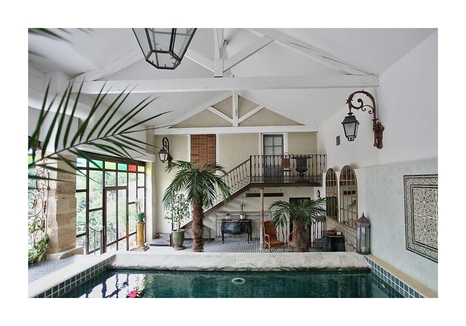 Бассейн, баня, сауна в цветах: серый, светло-серый, сине-зеленый. Бассейн, баня, сауна в стилях: французские стили, прованс.