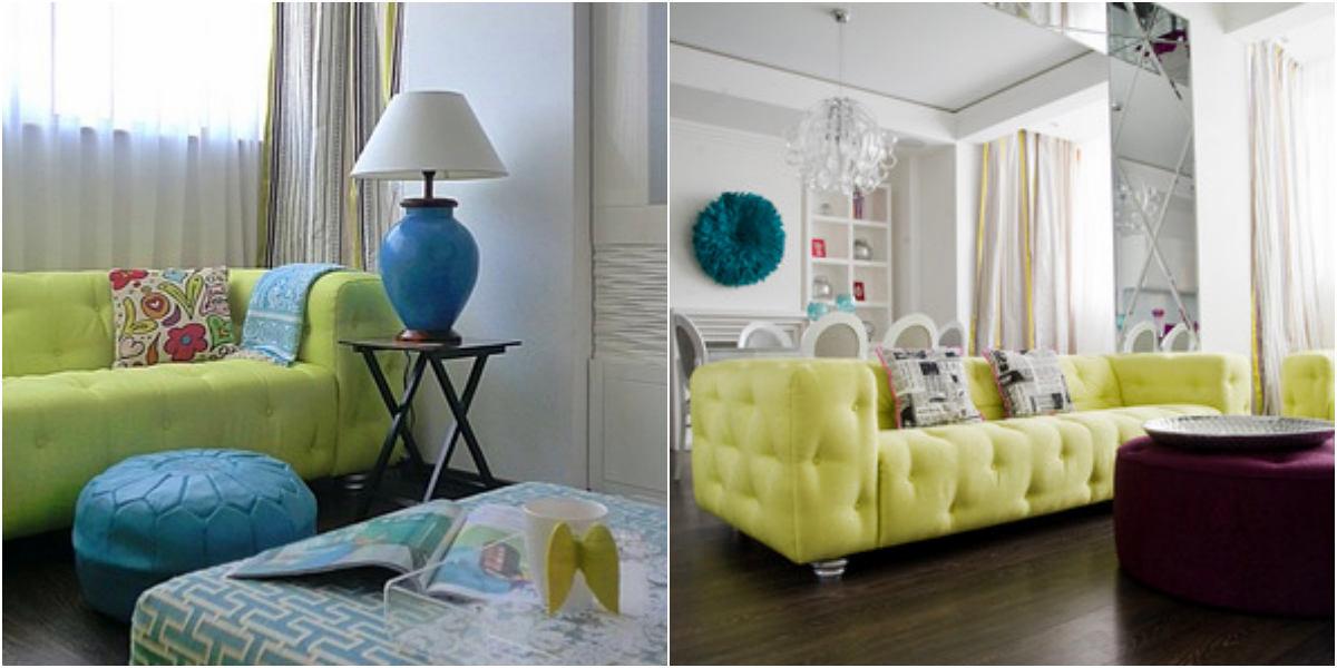 Гостиная, холл в цветах: зеленый, бирюзовый, белый, коричневый. Гостиная, холл в стилях: прованс.