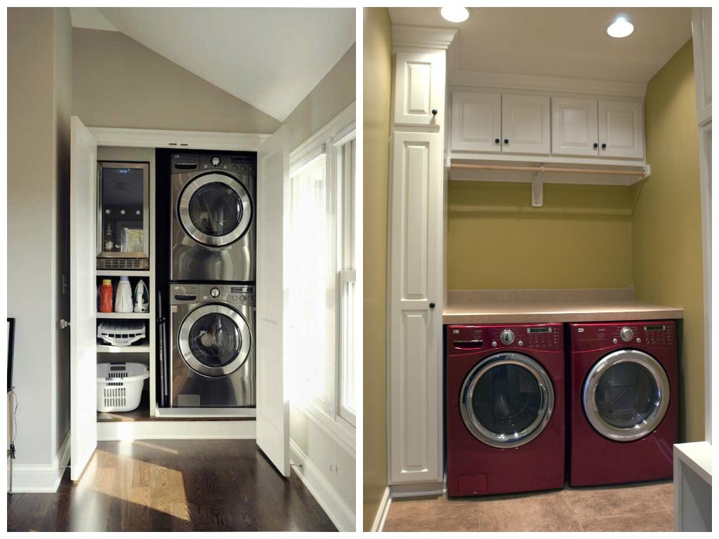Подсобное помещение в цветах: серый, светло-серый, бордовый, темно-коричневый, бежевый. Подсобное помещение в стиле минимализм.