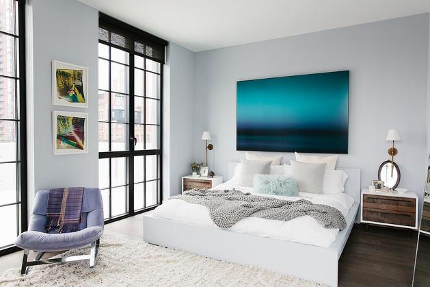 Мебель и предметы интерьера в цветах: черный, серый, светло-серый, сине-зеленый. Мебель и предметы интерьера в стиле минимализм.