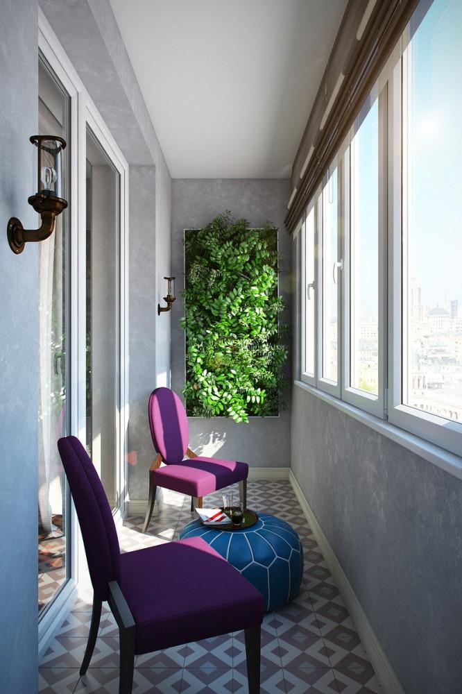 Балкон, веранда, патио в цветах: серый, светло-серый, белый, сине-зеленый, сиреневый. Балкон, веранда, патио в стилях: арт-деко.