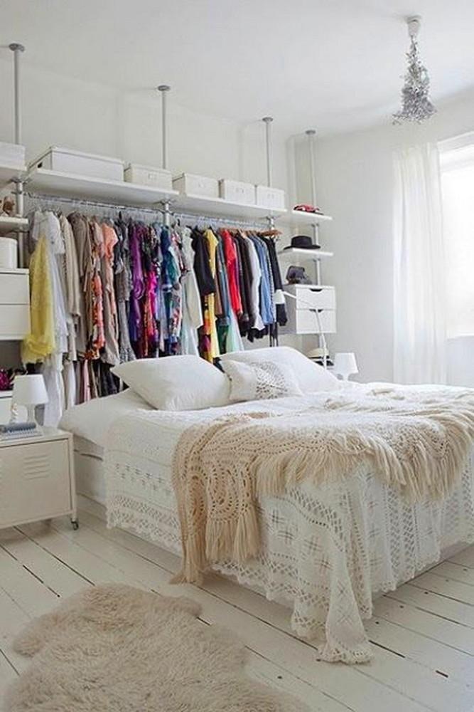 Спальня в цветах: светло-серый, белый, бежевый. Спальня в .