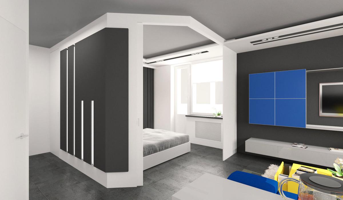 Мебель и предметы интерьера в цветах: бирюзовый, черный, серый, белый. Мебель и предметы интерьера в стиле минимализм.