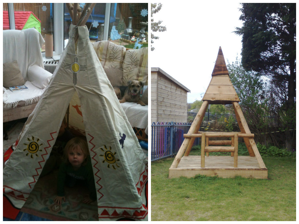 как построить детям шалаш