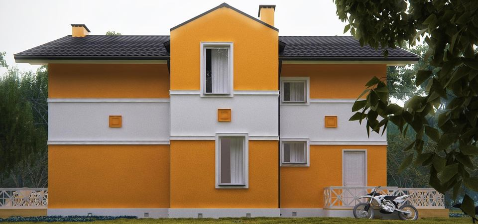 Яркий и уютный дом для трёх поколений
