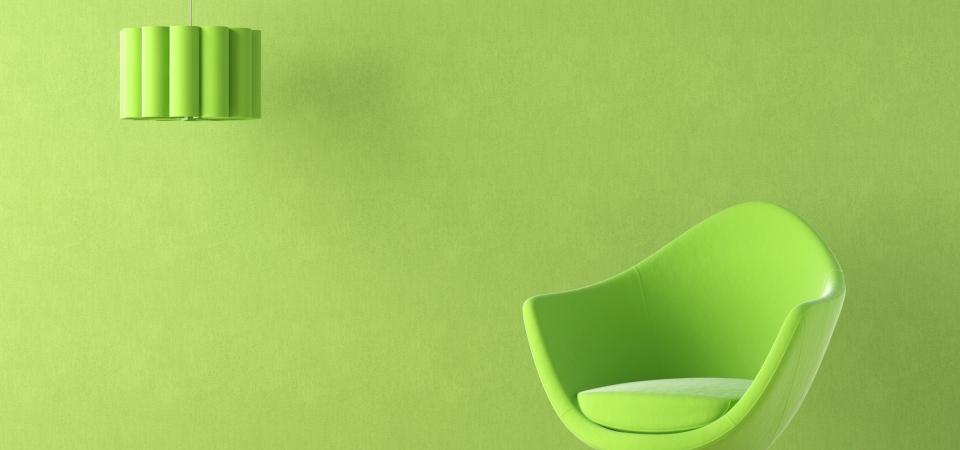 Универсальный солдат: зеленый цвет в интерьере
