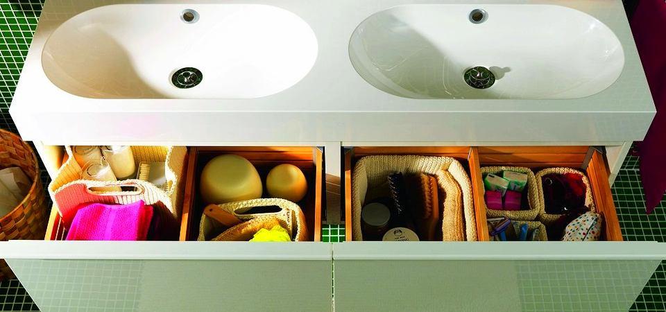 Маленькая ванная: 10 мест для хранения мелочей