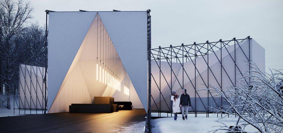 «Миндаль»: первый в мире открытый ресторан на льду