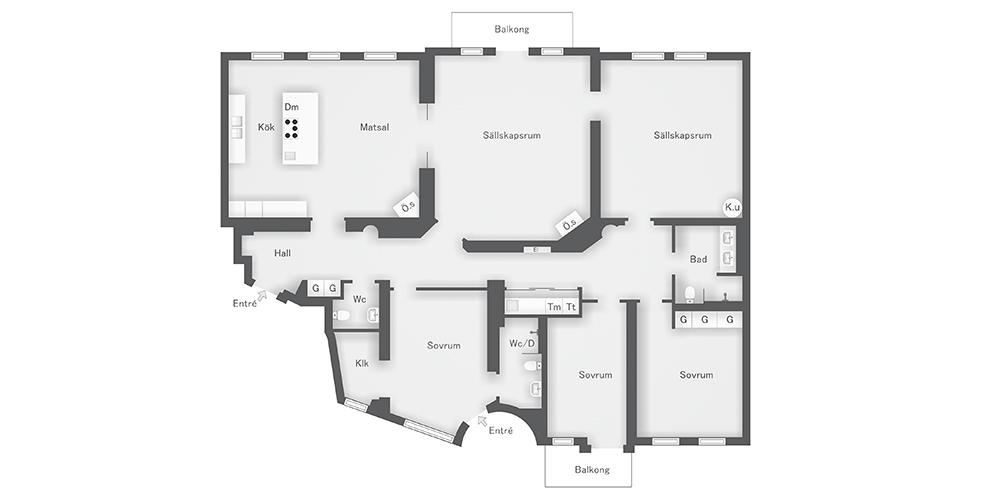 Архитектура в цветах: серый, светло-серый. Архитектура в стиле скандинавский стиль.