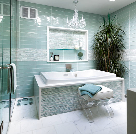 Туалет в цветах: бирюзовый, серый, светло-серый, белый. Туалет в стиле неоклассика.
