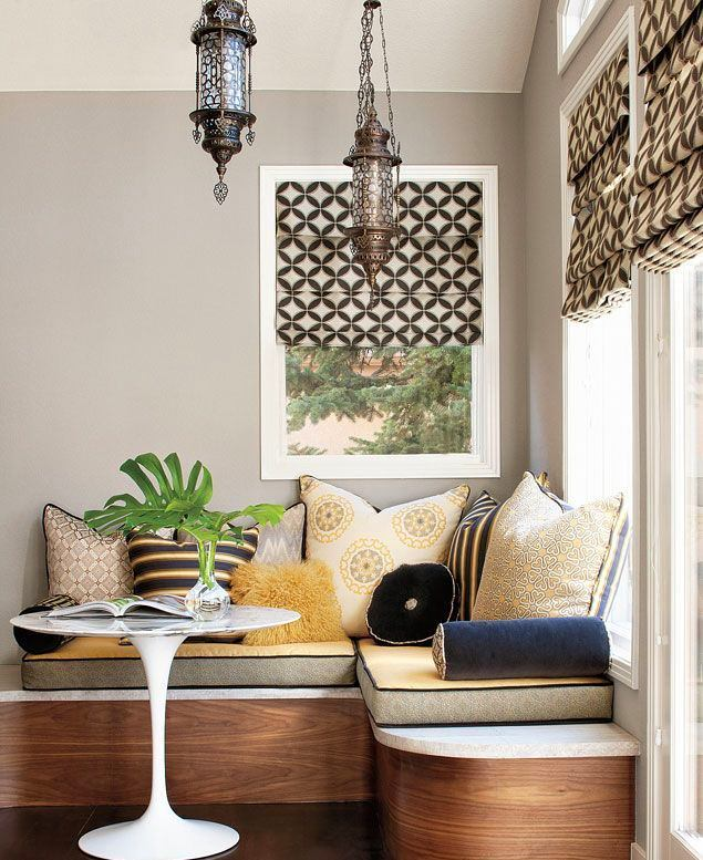 Кухня в цветах: серый, светло-серый, белый, бежевый. Кухня в стиле ближневосточные стили.