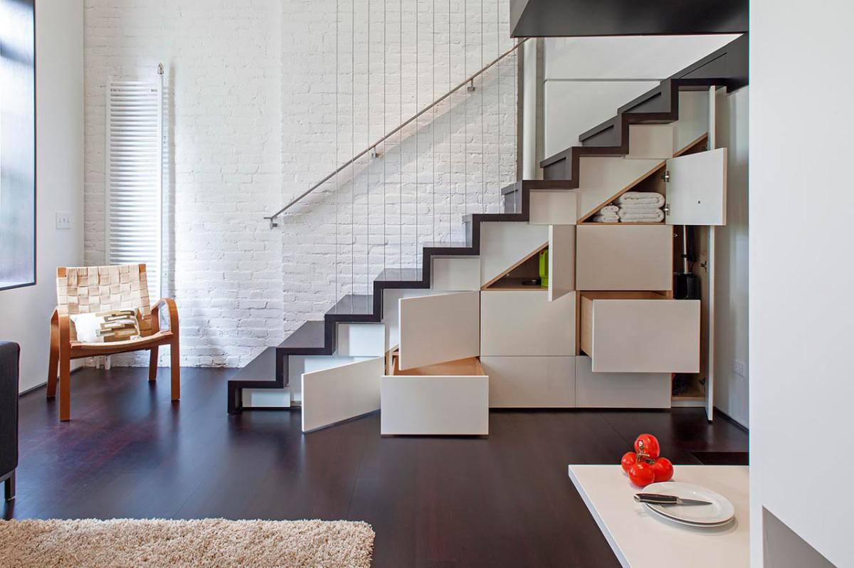 Гостиная, холл в цветах: черный, белый, темно-коричневый, бежевый. Гостиная, холл в стилях: минимализм, лофт.
