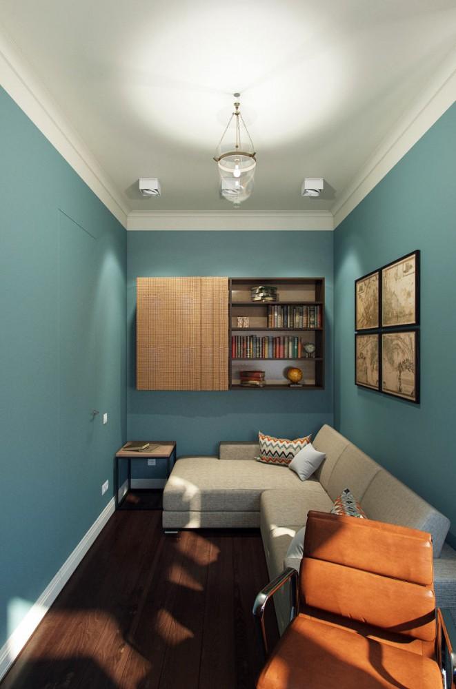 Мебель и предметы интерьера в цветах: оранжевый, бирюзовый, светло-серый, темно-коричневый, коричневый. Мебель и предметы интерьера в стиле минимализм.